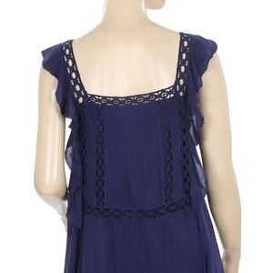 Free People Dresses - Free People FP One Priscilla Eyelet Navy Dress XS